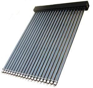 panel termico solar con tubos de vacio