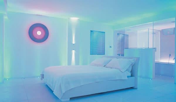 Vivienda iluminada con LEDs