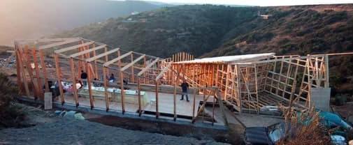 estructura casa de madera