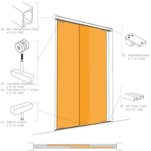 Puertas correderas transl cidas hechas con panel de resina - Guias puerta corredera ...