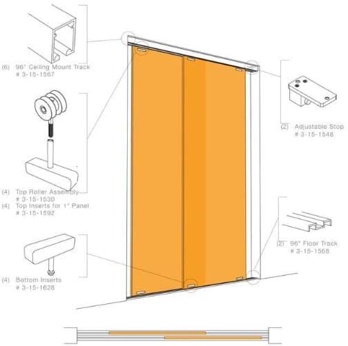 puertas correderas transl cidas hechas con panel de resina