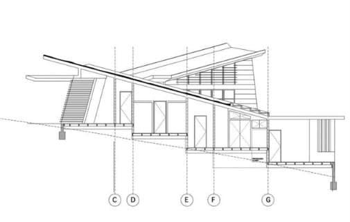 seccion vivienda madera escalonada