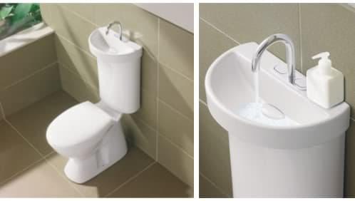 inodoro con lavabo de Caroma