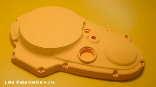 pieza mecanica desde impresora 3D