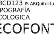 ECOFONT: una tipografía ecológica