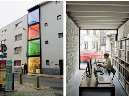 Vivienda de 2 4m de ancho is arquitectura prefab - Vivienda entre medianeras ...