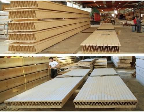 forjados con paneles prefabricados de madera kielsteg