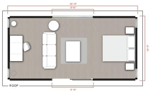 plano-cabaña-prefabricada