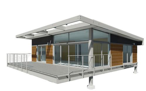 Casa prefabricada de estructura acero montada en 5 d as - Estructuras de acero para casas ...