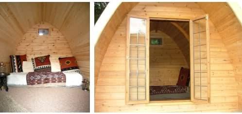detalle cabaña de madera