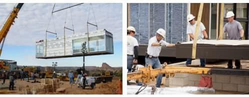 montaje modulos casa prefabricada