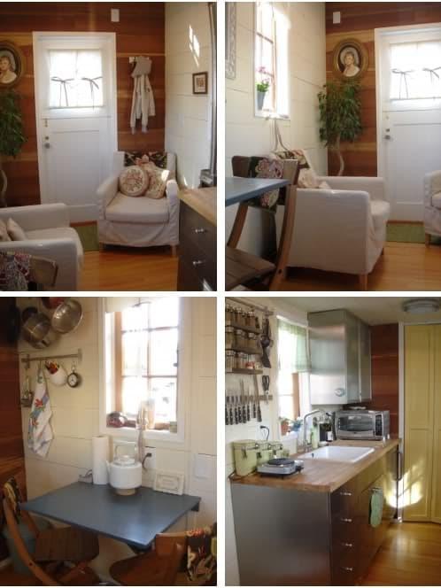 Fotos de casa diminuta sobre ruedas en venta tiny house - Fotos de casas de madera por dentro ...
