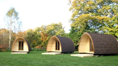 moderna cabaña de madera