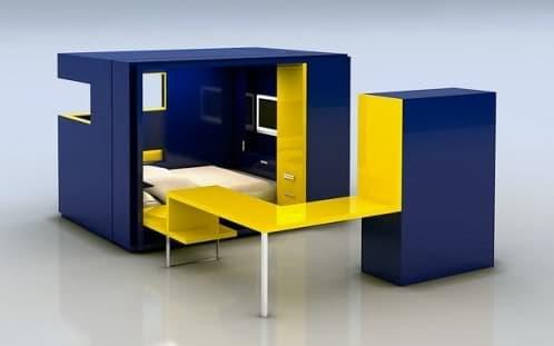 modulo prefabricado oficina y habitacion