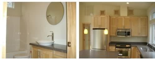 cocina y baño casa prefabricada