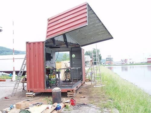 construcción del contenedor Froebe