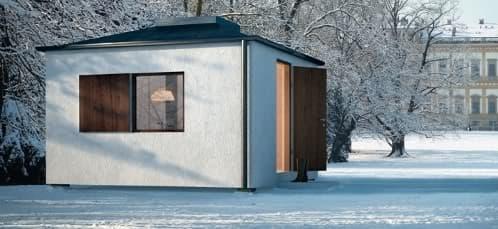 Sasa3 moderna casa prefabricada de 15m2 casas suecas - Refugios de madera prefabricados ...