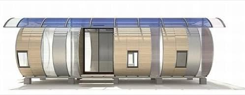 alzado casa prefabricada modular