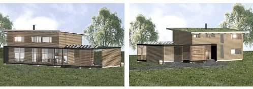 casa pasiva verde