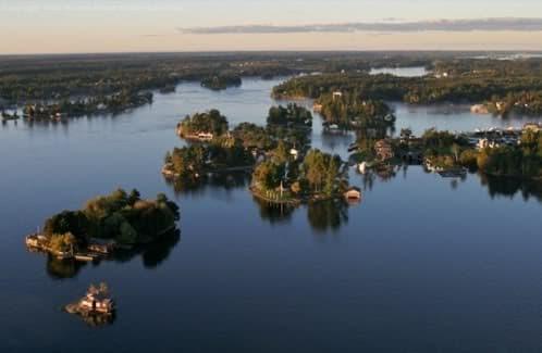 vista aérea de Thousand Islands