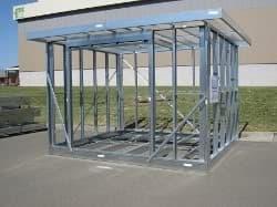 habitación prefabricada con estructura metálica