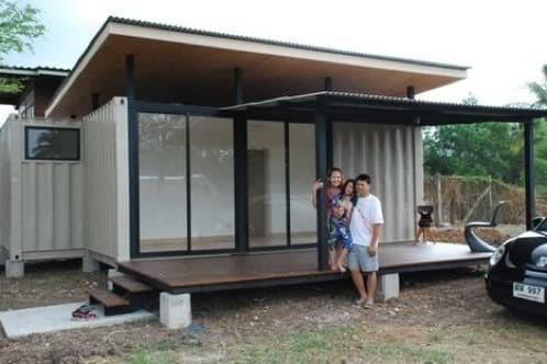 Casa de 2 contenedores y porche preparada para climas c lidos - Diseno de casas con contenedores ...