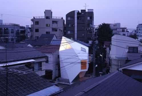 vista urbana de la mini casa japonesa