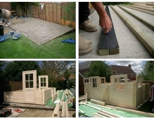 fotos proceso constructivo casita de madera