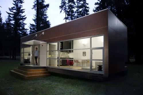 vista exterior moderna casa prefabricada de Preform