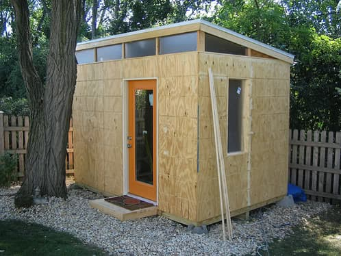 Fotos de la auto construcci n de un cobertizo de madera for Casas con cobertizos
