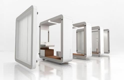 cuarto de baño modular de Yonoh