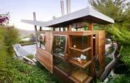 Casa para huéspedes como refugio-árbol