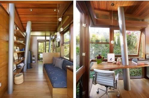 Casa para hu spedes construida como una moderna casa rbol for Escaleras por fuera de la casa