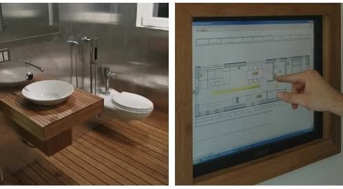 baño y panel de control