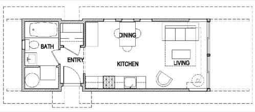 plano casa prefabricada tipo estudio