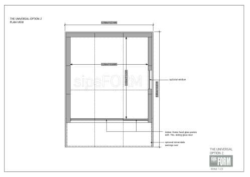 plano de oficina para el jardín