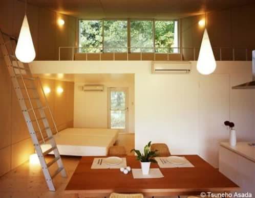 interior casa aluminio con loft