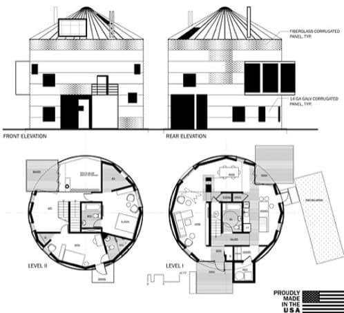 planos casa prefabricada silo