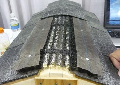 tubos pex bajo cumbrera tejado