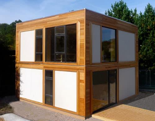 balehaus casa con cerramientos de paneles modcell