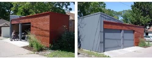 Garajes prefabricados con cubierta verde - Locales prefabricados ...