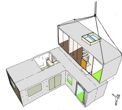 nottingham-house esquema modular prefabricado