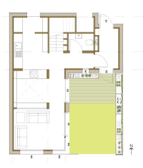 plano planta baja de la HOUSE
