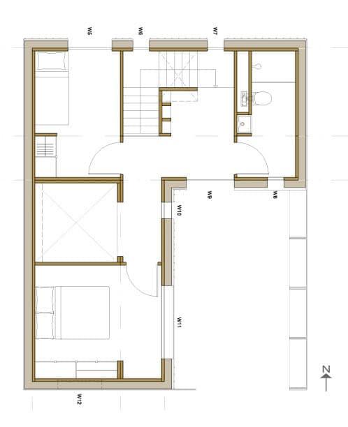plano planta alta de la vivienda HOUSE