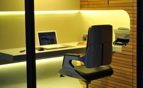 interior de oficina prefabricada Officepod