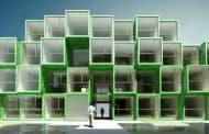 CROU: residencia de estudiantes con 100 contenedores