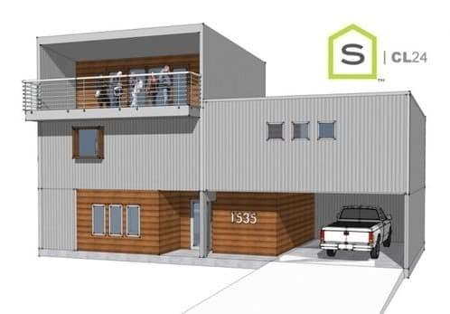 render casa prefabricada CL24