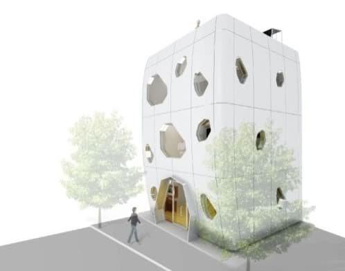 CASA prefabricada-live-pod de 3 plantas
