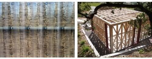estructura y cerramiento de cabaña moderna