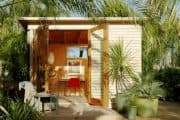 Estudios Flexa: moderna habitación prefabricada